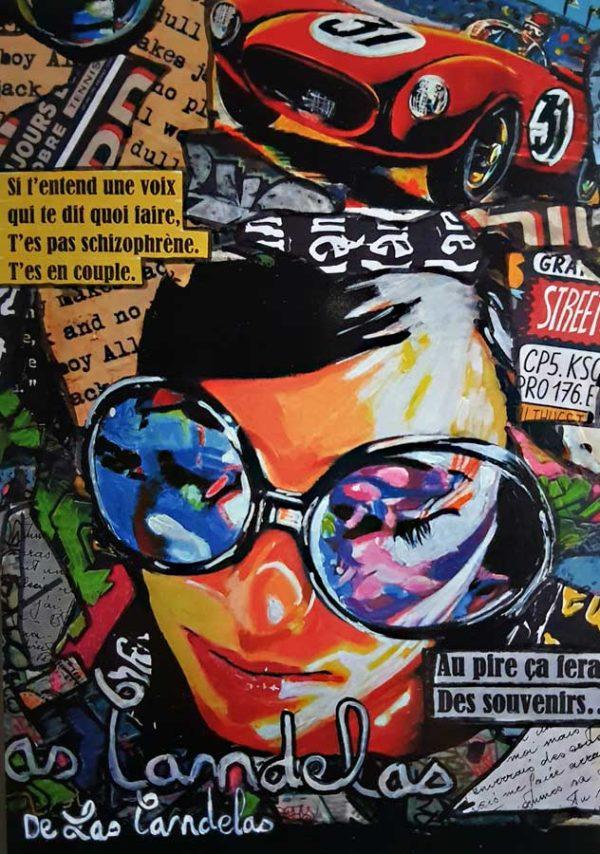 Carte Blue bubble N°2, Cécile De Las Candelas artiste peintre