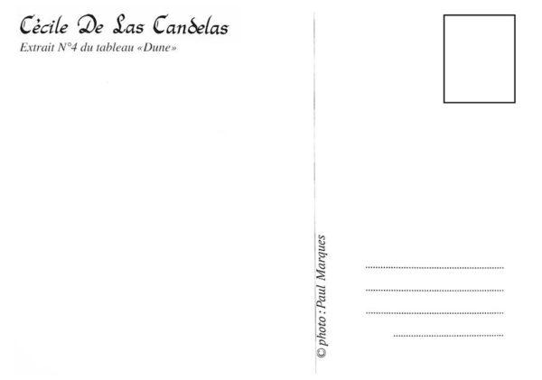 Carte Dune N°4, Cécile De Las Candelas artiste peintre