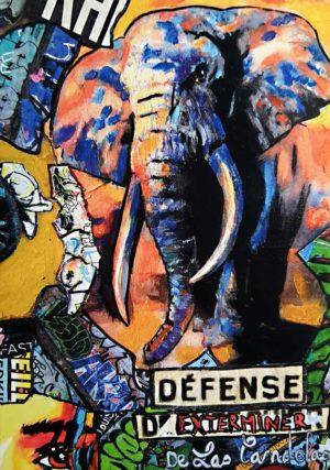 Card Warning N°2. Cécile De Las Candelas painter.