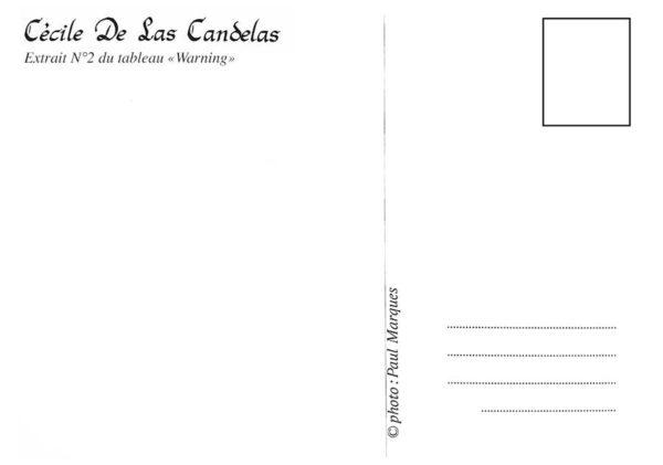 Carte Warning N°2, Cécile De Las Candelas artiste peintre