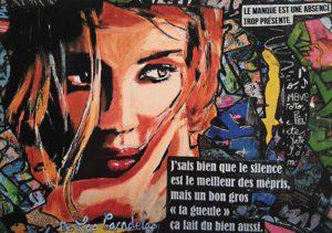 Card Warning N°5. Cécile De Las Candelas painter.