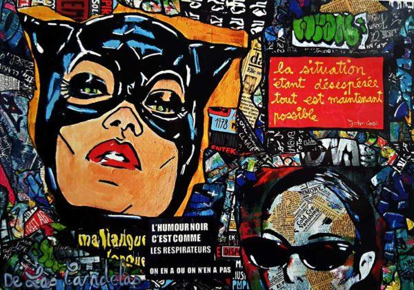 Carte Fucking life N°1, Cécile De Las Candelas artiste peintre