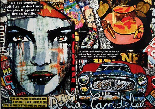 Carte I have a crush N°1, Cécile De Las Candelas artiste peintre
