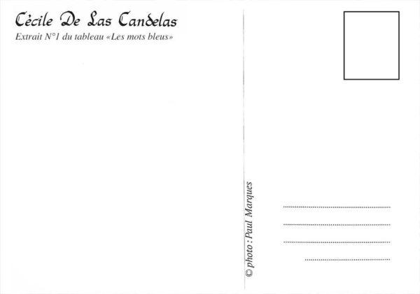 Carte Les mots bleus N°1, Cécile De Las Candelas artiste peintre