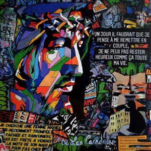 Card Spinae N°1. Cécile De Las Candelas painter.