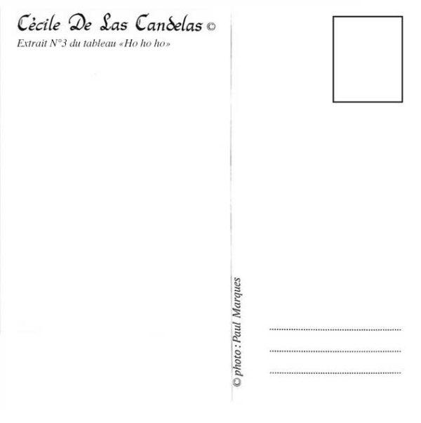 Carte Ho ho ho N°3, Cécile De Las Candelas artiste peintre
