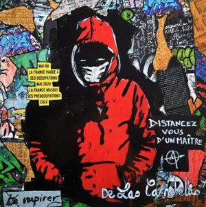 Card Heartbeat N°2. Cécile De Las Candelas painter.
