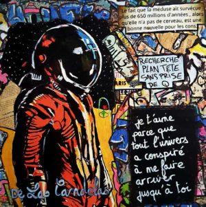 Card Seconde chance N°1. Cécile De Las Candelas painter.