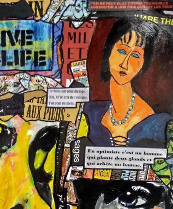 Tableau 1984, 65x80 cm, Cécile De Las Candelas artiste peintre