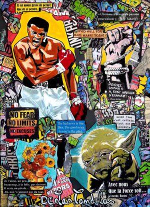 Painting A NEW CHANCE... Mixed Media, 50x70 cm. Cécile De Las Candelas painter. Unique work signed by the artist