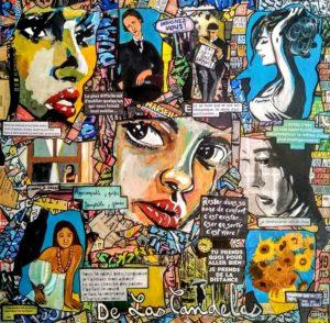 Tableau I HAVE A DREAM, 80x80 cm, Cécile De Las Candelas artiste peintre