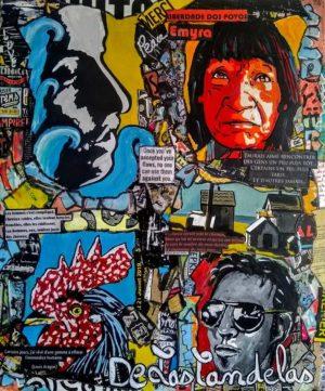 Tableau LIBERDADE WAIAPI, 54x65 cm, Cécile De Las Candelas artiste peintre