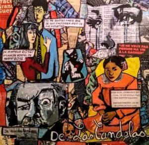 Tableau LISA, 50x50 cm, Cécile De Las Candelas artiste peintre