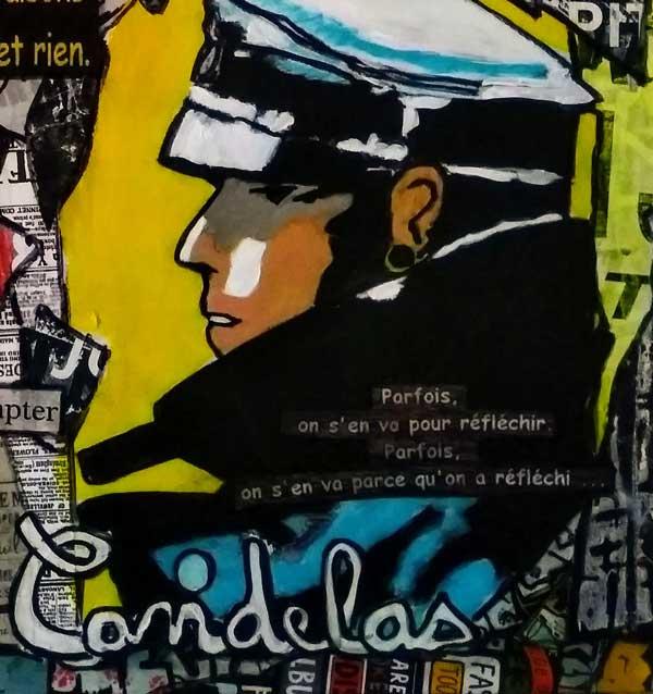 Tableau SOMETIMES, 50x50 cm, Cécile De Las Candelas artiste peintre