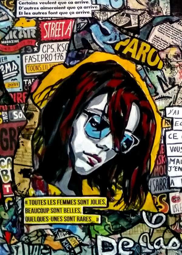 Tableau STRUMBLE, 50x70 cm, Cécile De Las Candelas artiste peintre