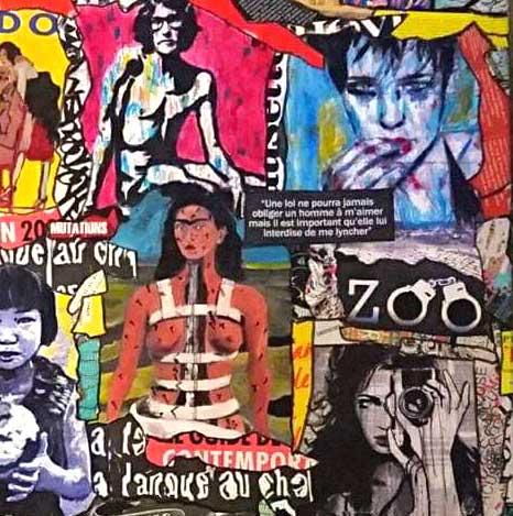 Painting ZOO, 100x100 cm, De Las Candelas painter