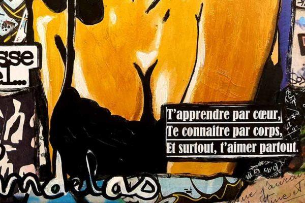 Tableau MON JULES, 33x22 cm, Cécile De Las Candelas artiste peintre