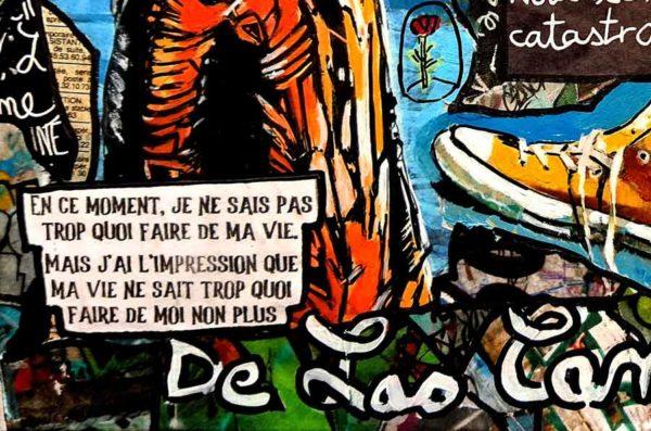 Tableau QUOI DE NEUF DOCTEUR ?, 33x22 cm, Cécile De Las Candelas artiste peintre