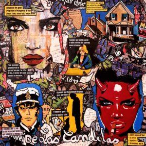 Tableau RÉFLEXION, 50x50 cm, De Las Candelas artiste peintre