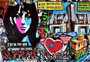 Painting ROND-POINT, 33x22 cm, De Las Candelas painter