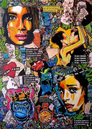 Painting UN JOUR À LA FOIS, 50x70 cm, Cécile De Las Candelas painter