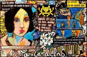Painting WHAT ELSE ?, 33x22 cm, Cécile De Las Candelas painter